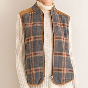 Entro Plaid Vest Size Small New